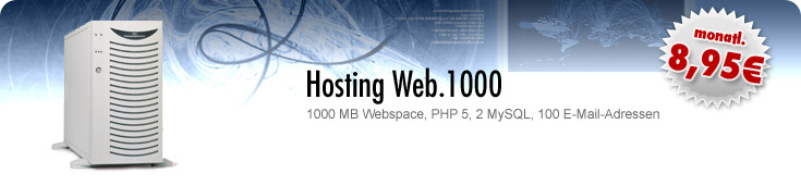 : Separate Hostingpakete :: Hosting Web.1000 :