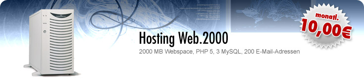 : Separate Hostingpakete :: Hosting Web.2000 :